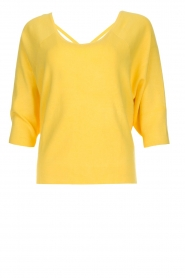 Aaiko |  Top with crossed back detail Valencia | yellow  | Picture 1