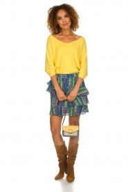 Aaiko |  Top with crossed back detail Valencia | yellow  | Picture 3