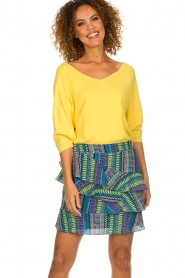 Aaiko |  Top with crossed back detail Valencia | yellow  | Picture 4