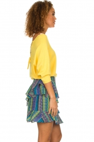 Aaiko |  Top with crossed back detail Valencia | yellow  | Picture 5