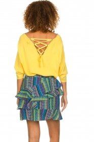 Aaiko |  Top with crossed back detail Valencia | yellow  | Picture 6