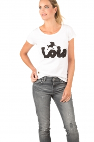 Lois Jeans | Top Logo | wit  | Afbeelding 2