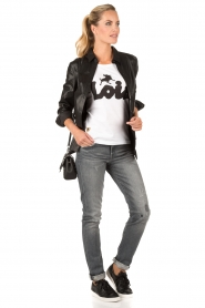 Lois Jeans | Top Logo | wit  | Afbeelding 3