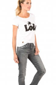 Lois Jeans | Top Logo | wit  | Afbeelding 4