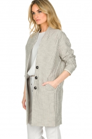 Ruby Tuesday |  Coat Erva | grey  | Picture 5