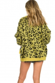 Aaiko |  Cardigan with leopard print | yellow  | Picture 6