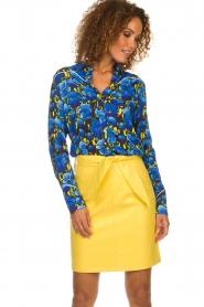 Aaiko |  Floral blouse Blaxi | blue  | Picture 2