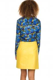 Aaiko |  Floral blouse Blaxi | blue  | Picture 5