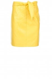 Aaiko |  Faux leather skirt Patia | yellow  | Picture 1