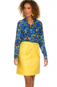 Aaiko |  Faux leather skirt Patia | yellow  | Picture 2