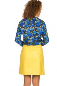 Aaiko |  Faux leather skirt Patia | yellow  | Picture 5