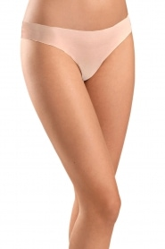 Hanro |  Seamless thong Invisible Cotton | brown  | Picture 2