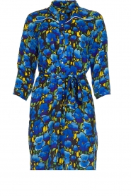 Aaiko |  Floral dress Belia | blue  | Picture 1