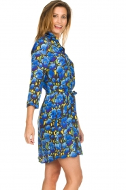 Aaiko |  Floral dress Belia | blue  | Picture 3