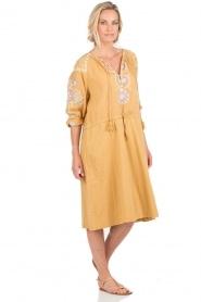 Antik Batik | Jurk Danah | geel  | Afbeelding 3