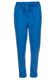 Aaiko |  Trousers with bow detail Tressa | blue  | Picture 1