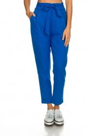 Aaiko |  Trousers with bow detail Tressa | blue  | Picture 3