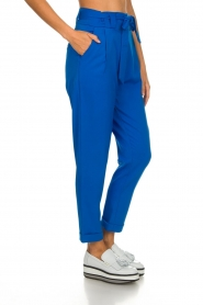 Aaiko |  Trousers with bow detail Tressa | blue  | Picture 4