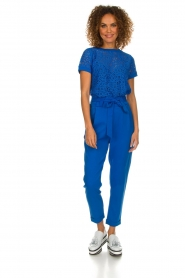 Aaiko |  Trousers with bow detail Tressa | blue  | Picture 2