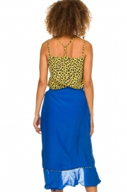 Aaiko |  Top with panther print and lace Vlint | yellow  | Picture 5