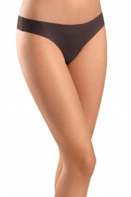 Hanro | Naadloze string Invisible Cotton | donkerbruin: Seamless thong I  | Afbeelding 2