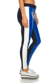 Aaiko |  Three-coloured pants with PU leather Sosa | blue  | Picture 4