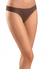 Seamless thong Invisible Cotton | brown