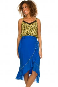 Aaiko |  Midi skirt with ruffles Tisadee | blue  | Picture 2