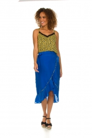 Aaiko |  Midi skirt with ruffles Tisadee | blue  | Picture 3