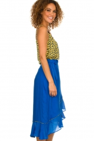 Aaiko |  Midi skirt with ruffles Tisadee | blue  | Picture 4