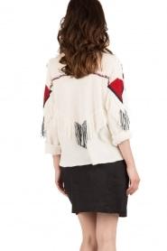Antik Batik | Vest Morisson | crème  | Afbeelding 5