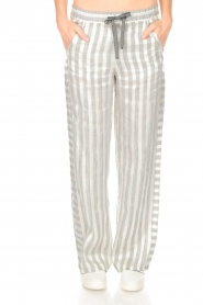 Ruby Tuesday |  Striped pants Nis | grey & white  | Picture 2