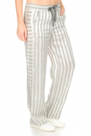 Ruby Tuesday |  Striped pants Nis | grey & white  | Picture 4