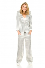 Ruby Tuesday |  Striped pants Nis | grey & white  | Picture 3