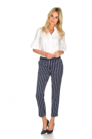 Aaiko |  Striped pants Parien | blue  | Picture 2