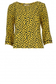 Aaiko |  Top with panther print Alta | yellow  | Picture 1