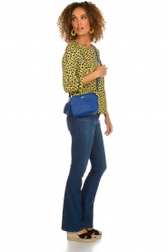 Aaiko |  Top with panther print Alta | yellow  | Picture 3