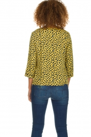 Aaiko |  Top with panther print Alta | yellow  | Picture 5