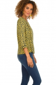Aaiko |  Top with panther print Alta | yellow  | Picture 4