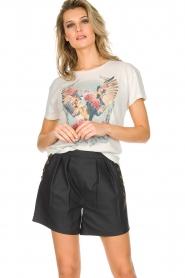 Ruby Tuesday | Leren shorts Lana | Zwart  | Afbeelding 2