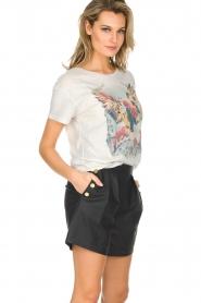 Ruby Tuesday | Leren shorts Lana | Zwart  | Afbeelding 4