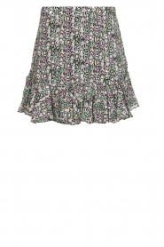 Aaiko |  Snake print skirt with ruffles Sillo | multi  | Picture 1