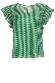 Aaiko |  Graphic printed top Remi | green  | Picture 1