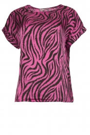 Aaiko |  Zebra print top Merle | purple  | Picture 1