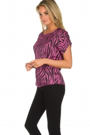 Aaiko |  Zebra print top Merle | purple  | Picture 4