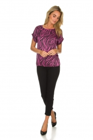 Aaiko |  Zebra print top Merle | purple  | Picture 3