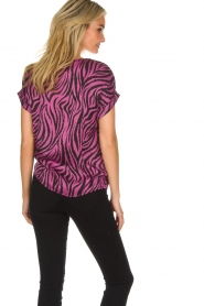 Aaiko |  Zebra print top Merle | purple  | Picture 5