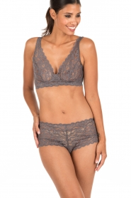 Lace bra soft-cup moments | grey