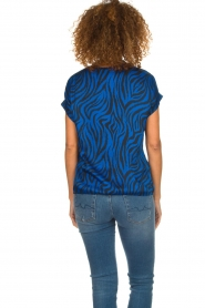 Aaiko |  Top with zebra print Merle | blue  | Picture 5