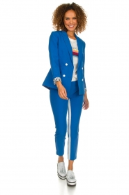 Aaiko |  Trousers with stripes Parienny | blue  | Picture 3